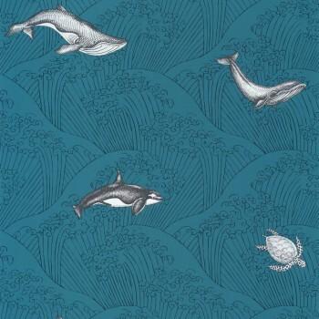 Vliestapete Meer-Blau Wale Wellen Our Planet OUP102016608