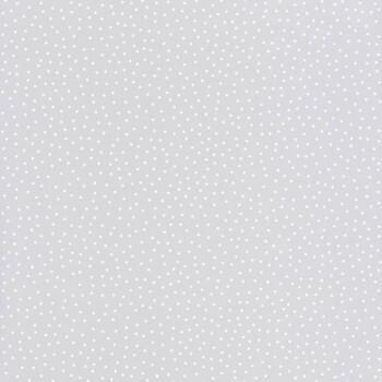 Vliestapete Grau Weiße Punkte