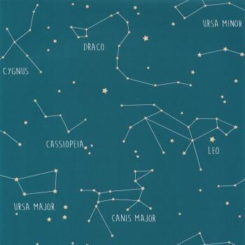 Tapete Vlies Sternbilder Petrol Our Planet OUP101916003