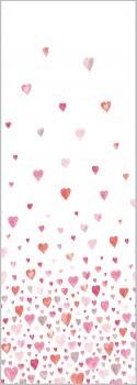Rosa-Rot Wandbild Herzen