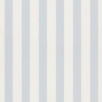 Hell-Blau Papier Streifen-Tapete Matt