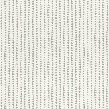 Papiertapete Muster Dreiecke Grau