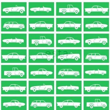 Grün Papiertapete Autos Kinderzimmer