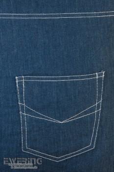Jeans Kissenhülle Blau Denim