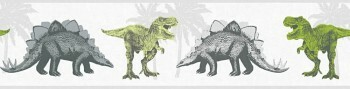 Borte Vlies Grün Dinosaurier