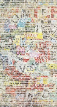 Papiertapete Wandbild Bunt