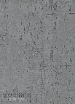 23-213682 Vista 5 Rasch Textil silber-grau glänzend Kork-Tapete