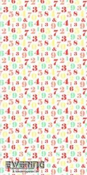Wandbild Bunt Zahlen
