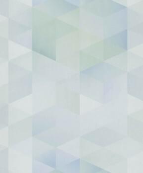Dreiecke Vliestapete Blau/Grün