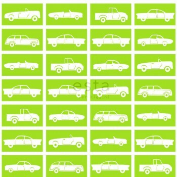 Apfel-Grün Automotive Papiertapete