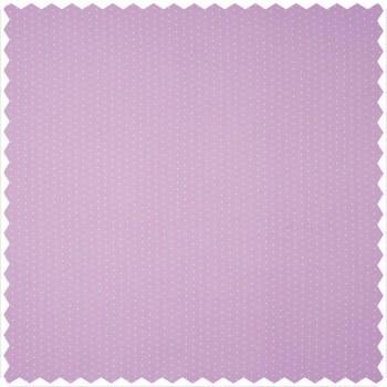Dekostoff weiß lila Punkte