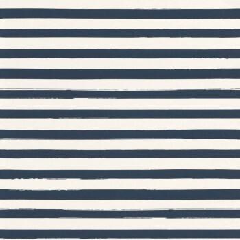 Vliestapete Streifen Blau Weiß