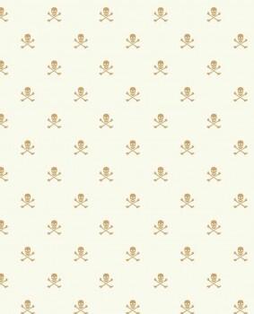 Totenköpfe Gold Weiß Kinderzimmer