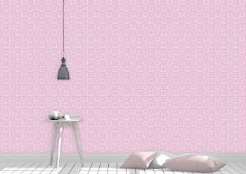 Wandbild Rosa Grafisches Muster