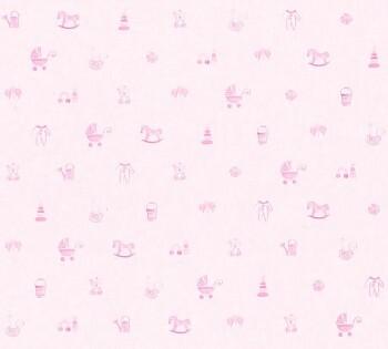 Vliestapete Hell-Rosa Babyzimmer