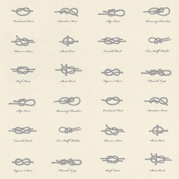 Vliestapete Knoten Weiß