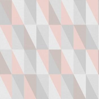 Vliestapete Rose Grau Grafisches Muster