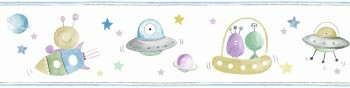 Borte Weltall Bunte Aliens Ufos Raketen Blau Ohlala 034541
