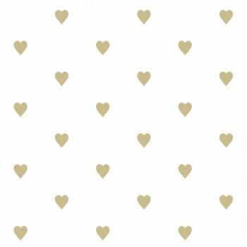 Tapete Goldene Herzen