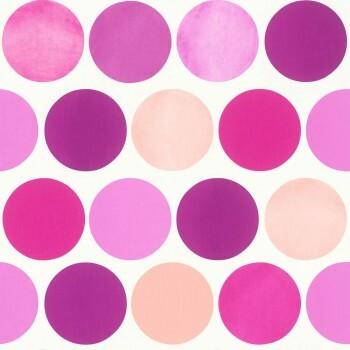 Vliestapete Mädchen Kreise Pink Lila
