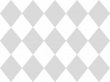 Tapete Papier Rautenmuster Grau Weiß Ohlala 335863