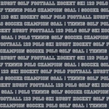 Schrift Sport Vliestapete Dunkel-Blau