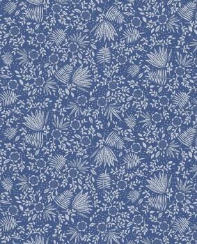 wallpaper dark blue plants flowers