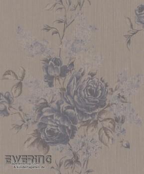 Rasch Textil Cassata 23-077567 hell-taupe Textiltapete Blumen