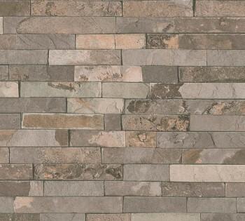 35582-2 Vlies Tapete Best of Wood'n Stone AS Creation taupe Steinoptik
