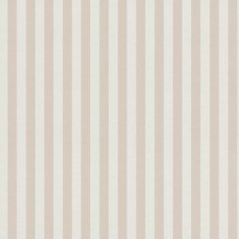 Streifen Tapete Beige Weiß Vlies