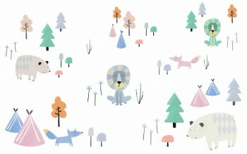 Sticker Bunte Waldmotive Tiere Klein Ohlala 365010