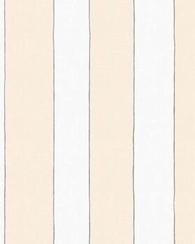 Vliestapete Streifen Hellgelb Weiß