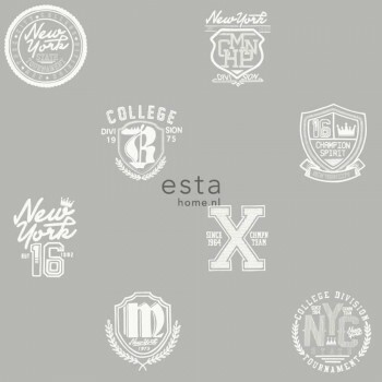 Logos Stein-Grau Vliestapete