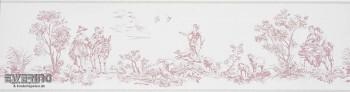 36-CHT22934113 Casadeco - Chantilly Borte Toile de Jouy alt-rosa