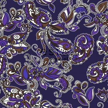 Vliestapete Funky Blumen Paisleys Lila Braun