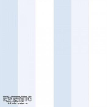 Streifentapete Beige Blau Kind