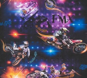 Tapete Bunte Motorräder