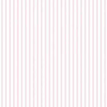 Tapete Streifen Rosa-Weiß Mädchen Lullaby