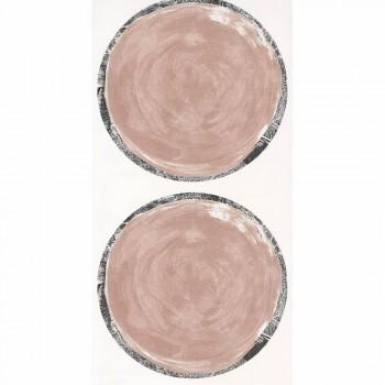 Rose Kreise Vliestapete