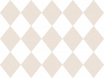Tapete Papier Rautenmuster Beige Weiß Ohlala 335610