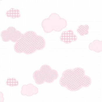 Vlies Tapete Wolken Rosa Mädchen