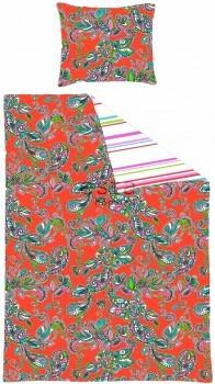 Bettwäscheset Funky Blumen Paisleys Rot