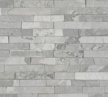 Vliestapete AS Creation Best of Wood'n Stone 35582-1 hell-grau Steine