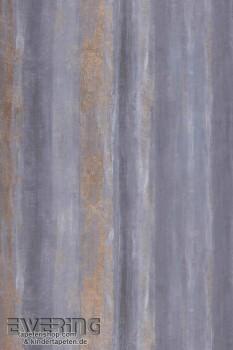 Texdecor Casadeco - Géode 36-GEO26926145 Streifen Vlies blau