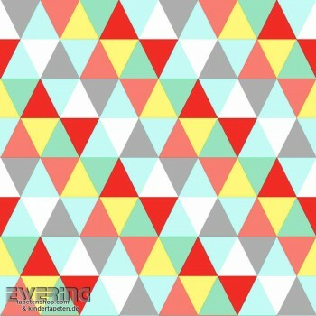 Bunt Dreiecke Vlies