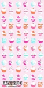 Rosa Wandbild Cupcakes