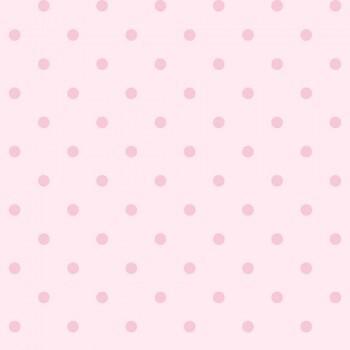 Vlies Tapete Rosa Punkte Glänzend