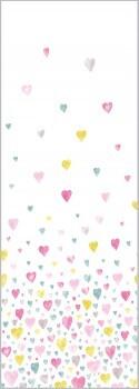 Wandbild Herzen Rosa-Blau