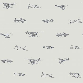 Tapete Flugzeuge Beige