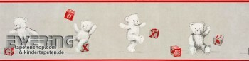 Borte Grau Teddybär Papier-Tapete